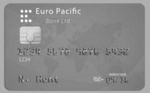 silver backed debit card
