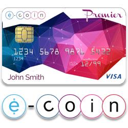 ecoin e card BTC VISA