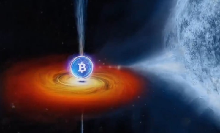 bitcoin zwart gat